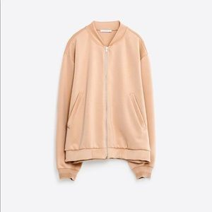 Zara Blush Bomber in Small